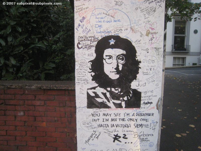 John Lennon stencil, Abbey Road